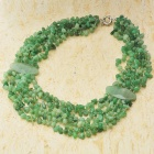 Exquisite Chrysoprase Gemstone Beads Necklace