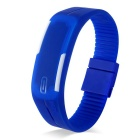 SKMEI Water Resistant Lodestone Strap LED Electronic Bracelet Watch - Sea Blue (1 x LR1130)