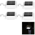 YouOKLight Waterproof 0.3W 4-LED Solar Powered Garden Fence Lamps White Light 6000K 60lm (4 PCS)