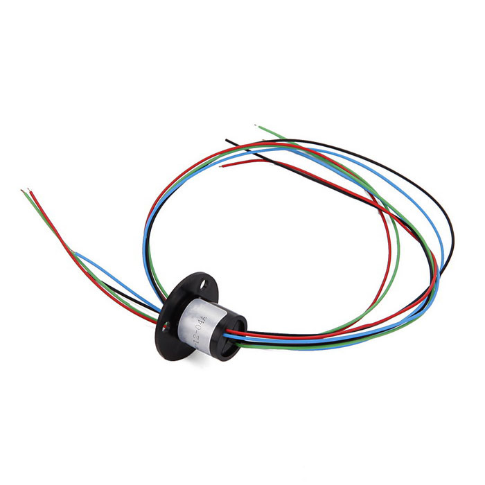 4 Wire 1.5A 240V D12.5mm Micro Capsule Slip Ring for Monitor + Robot