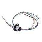 4 Wires 1.5A 240V D12.5mm Micro Capsule Slip Ring for CCTV Monitoring + Robot - Black