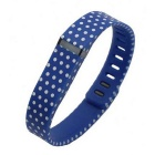 Dots Pattern Sports Wrist Band for Fitbit Flex - Blue + White (L)