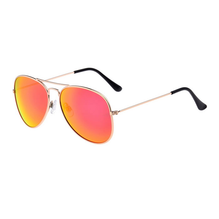 SENLAN UV400 Protection PC Lens Sunglasses - Golden + Red REVO