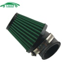 Universal Mushroom Head Style Motorcycle Air Filter - Green (48mm)