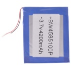 Universal replacement 3.7v 3700mah li-polymer battery for 7~10