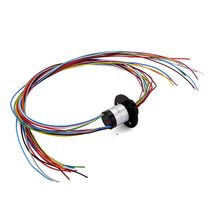 12 Wires 1.5A 240V D12.5mm Micro Capsule Slip Ring for CCTV Monitor