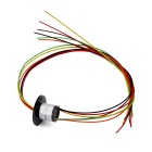6 Wires 1.5A 240V D12.5mm Micro Capsule Slip Ring for CCTV Monitoring + Robot - Black