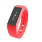 "B5 plus 0,91 ""IP67 Bluetooth V4.0 Smart Watch Armband Armband w / Sport / Schlaf-Tracking - Red"