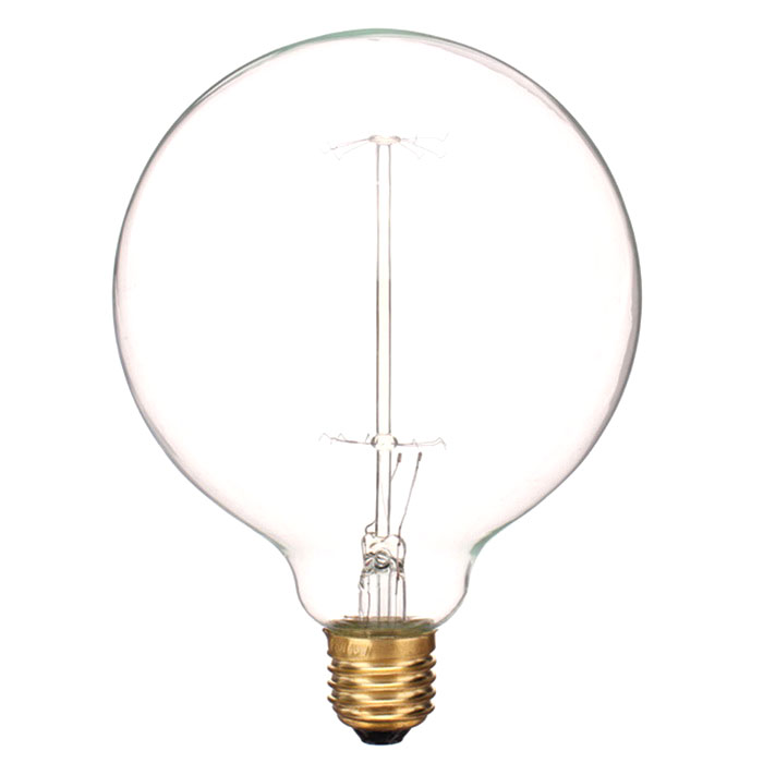 E27 40W wolfraam gloeilamp lamp warm wit - gouden + transparent