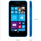 "Genuine Nokia Lumia 630 3G SIM Free/ Unblocked 4.5"" Smart Mobile Phone - Blue"