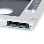 "12.7mm 2.5"" SATA CD Drive HDD Holder Bracket for HP 8460 - Silver"
