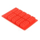 DIY Building Block Style Silicone Ice / Chocolate Making Mold - Red