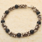 Smoky Quartz with Pearl Necklace