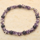 """A"" Quality Brazilian Amethyst with Pearl Necklace"