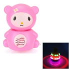 Cute Cartoon Style Fan Spinning Top w/ Music / Colorful Light - Pink + White (3 x AA)