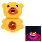 Cute Bear Style Fan Spinning Top Toy w/ Music / Colorful Light - Yellow + Brown (3 x AA)