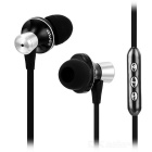 AWEI TE 850Vi 3.5mm Wired In-Ear Earphone w/ Remote / Mic for Samsung - Black + Silver