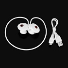 Cwxuan Wireless Sports Neckband BT v4.0 Stereo Headset w/ Mic - White