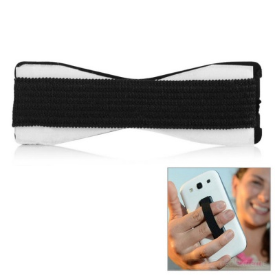 New Adhesive Elastic Band Strap Holder for Cell Phone - Black