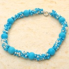 Russian Blue Turquoise Pearl Necklace