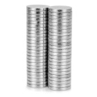 Round Shaped 10*1.5mm NeFeB Magnets - Silver (50PCS)