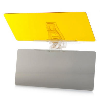 Driving Clear View Vision Anti-Glare Car Sun Visor Shield - Yellow