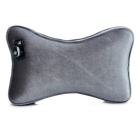 Car Bluetooth Wired Headset Pillow Cushion Headrest - Grey