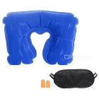 AoTu AT9029 3-in-1 Inflatable Pillow + Eye Shade + Noise-Blocking Earbuds Travel Kit (OPP Bag Pack)