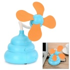 Creative USB 2.0 4-Blade Mini Fan - Blue + Orange