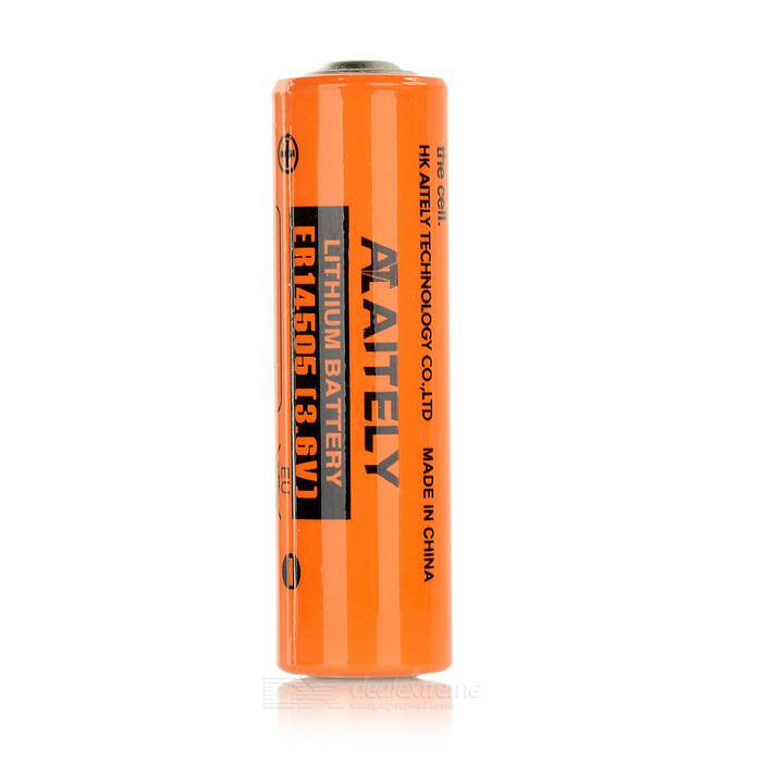 AITELY 3.6V Non-chargeable ER14505 Lithium Battery - Orange + Black