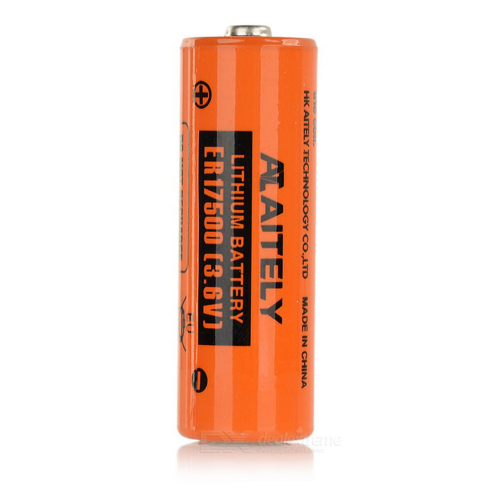 AITELY 3.6V Non-chargeable ER17500 Lithium Battery - Orange + Black