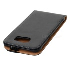 MINI SMILE Split Leather Case for Samsung Galaxy S6 G9200 - Black