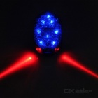 7-LED Blue Bike Tail Light w/ 3-Mode Red Laser Light - Blue + Black