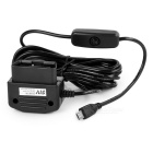 Micro-USB-12 ~ 24V DC 5V OBD Voltage Step Down Power Converter Kabel für Auto-DVR - Schwarz