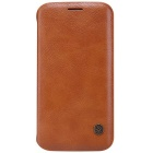 NILLKIN QIN Series Protective PU + PC Case Cover for Samsung Galaxy S6 Edge - Brown