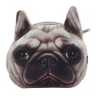 3D Effect Cartoon Dog Style Polyester Coin Purse Case Pouch
