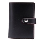 Soft PU Leather Credit Card Holder for 20 Cards - Black