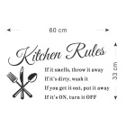 DIY Patterned Removable Water-Resistant Decorative Wall Stickers Kitchen Decals - Black
