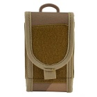 "4.7"" Outdoor Nylon Bag Pouch for IPHONE 6 / 5S / Cell Phones - Dark Brown + Light Brown"