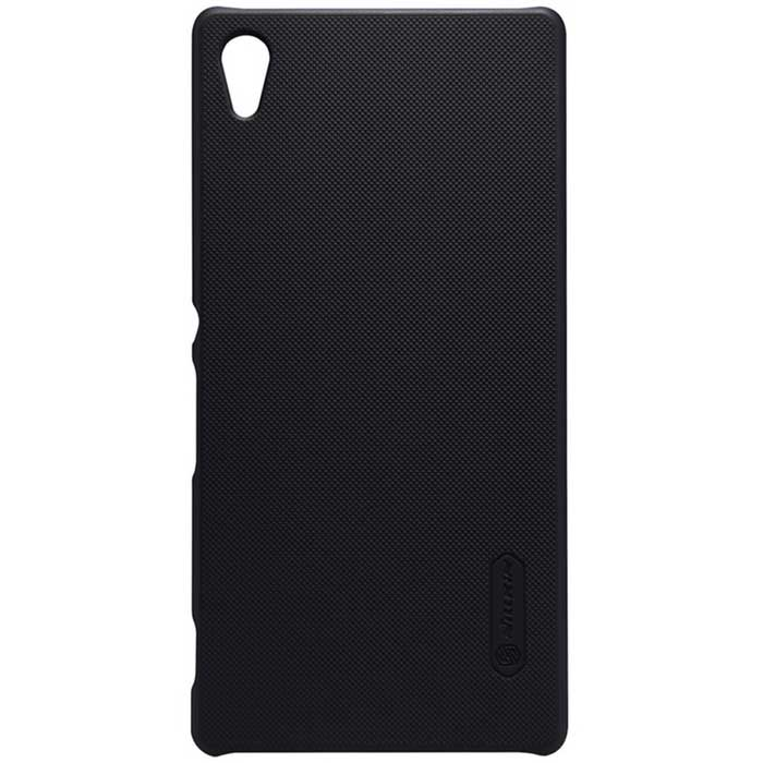 NILLKIN Plastic Back Case w/ Screen Protector for Xperia Z4 - Black