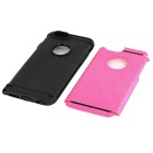 2-In-1 TPU + PC Back Case for IPHONE 6 - Deep Pink + Black
