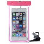 Waterproof Protective PVC Case for IPHONE 6 PLUS + More - Deep Pink + Transparent