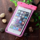 Waterproof PVC Case for IPHONE 6 PLUS + More - Deep Pink + Transparent