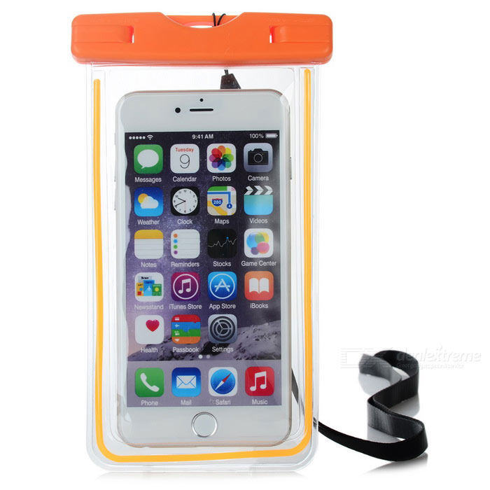 Waterproof PVC Case for IPHONE 6 PLUS + More - Fluorescent Orange