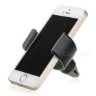 Universal C-Shaped Car Outlet Mount Holder for Mobile Phones - Black