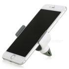 Universal C-Shaped Car Outlet Mount Holder for Mobile Phones - White
