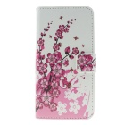MO.MAT Luxury PU + PC Wallet Case w/ Card Slot for Samsung Galaxy S6 - White + Pink + Multcolor