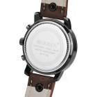CURREN 8192 Men's PU Band Quartz Analog Wrist Watch - Brown (1*626)