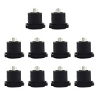 Jtron Audio Video Motherboard 4-Core Socket Ohm Plug Square Socket - Black (10 PCS)