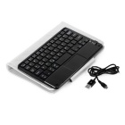 "59-Key Bluetooth Touch Keyboard w/ PU Case for 7~8"" Tablet PC - White"